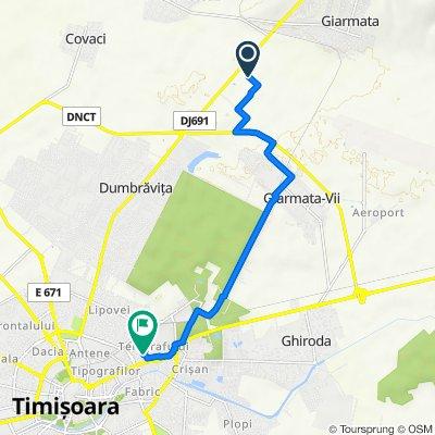 Route to Strada Samuel Clain Micu 13A, Timișoara