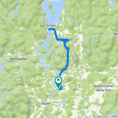 De 1225 Ch du Vieux-Pin, St-André-Avellin à Lac Simon