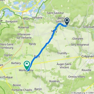 Béthisy-Saint-Martin naar Montépilloy