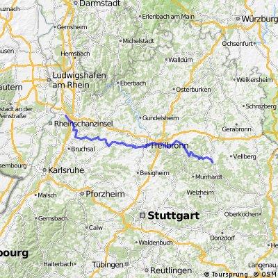 Westheim (SHA) -  Reilingen (bei Hockenheim)