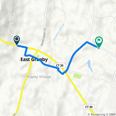 37–51 Turkey Hills Rd, East Granby to 22 Russell Rd, East Granby