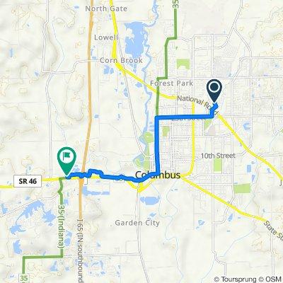 2942 Desoto Way, Columbus to 3780 W Jonathan Moore Pike, Columbus