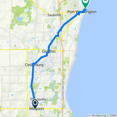 6111 W Mequon Rd, Mequon to Upper Lake Park Rd, Port Washington