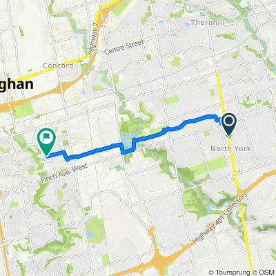 Northtown Way, North York to 380 Assiniboine Rd, North York
