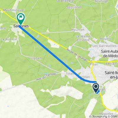De 43 Rue Alberto Santos-Dumont, Saint-Médard-en-Jalles à Route de Castelnau, Salaunes