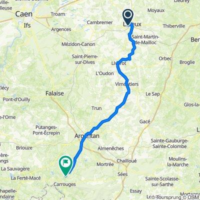 De Chemin de la Croix de Fer 3, Saint-Désir à Launay 65, Sainte-Marguerite-de-Carrouges