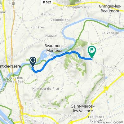 De Lac d'Aiguille, Châteauneuf-sur-Isère à 165 Chemin de Charbonnel, Châteauneuf-sur-Isère