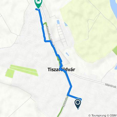 Toldy Ferenc út 54, Tiszaföldvár to Bajcsy-Zsilinszky út 2, Tiszaföldvár