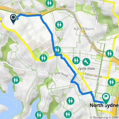 Whiting Street 59, Artarmon to McLaren Street 39, North Sydney