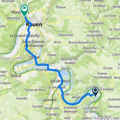 De 3 Chemin de la Messe, Tosny à 40 Rue d'Alsace-Lorraine, Déville-lès-Rouen