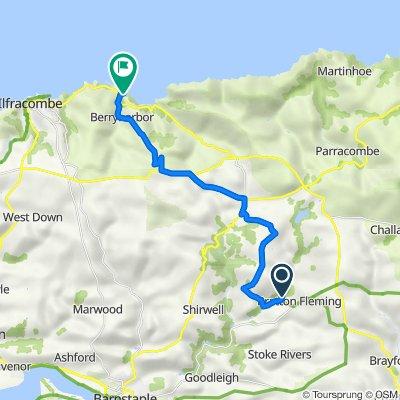 Route to The Lodge, Coast Road, Ilfracombe
