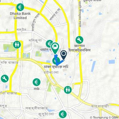 Sadek Hossain Khoka Road 5c, Dhaka to Toyenbee Road 3, Dhaka