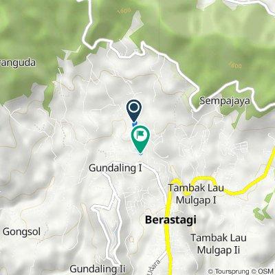 Jalan Jaranguda 108, Merdeka to Jalan Pendidikan 10, Kecamatan Berastagi