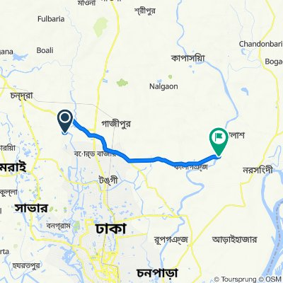 Unnamed Road, Kashimpur to Unnamed Road, Ghorashal