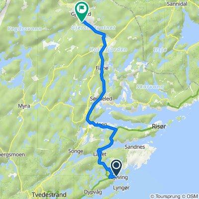 Gjevingveien 123, Gjeving to Gjerstadveien 1161, Gjerstad