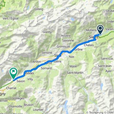 Campingweg 4, Salgesch to Chemin de la Maraîche 31, Fully