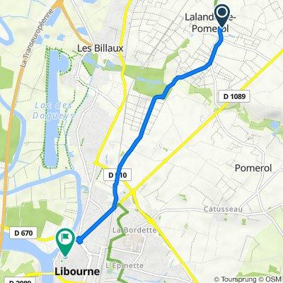 De 53 Mairie, Lalande-de-Pomerol à 44 Rue Clément Thomas, Libourne
