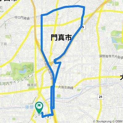 14-5, Inadauemachi 1-Chōme, Higashiosaka to 15-2, Inadauemachi 1-Chōme, Higashiosaka