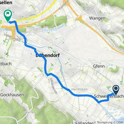 Im Widacher 1, Schwerzenbach nach Neue Winterthurerstrasse, Wallisellen
