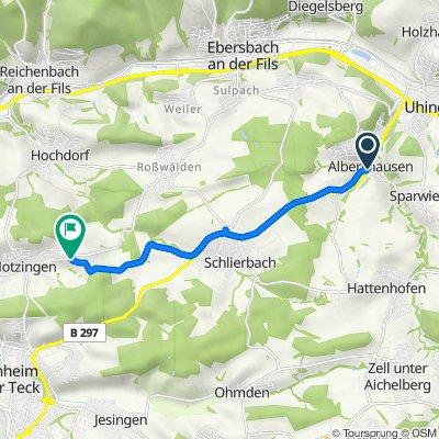 Lindenstraße 1, Albershausen nach Im Hof 5, Notzingen