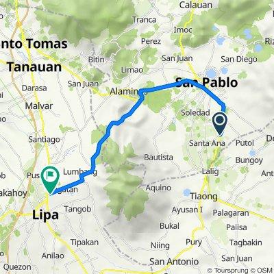Philippines, San Pablo City to Santo Tomas-Lipa Road