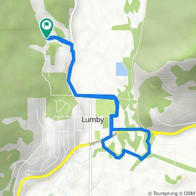 2397 Cedar Ridge St, Lumby to 2404 Spruce Ave, Lumby