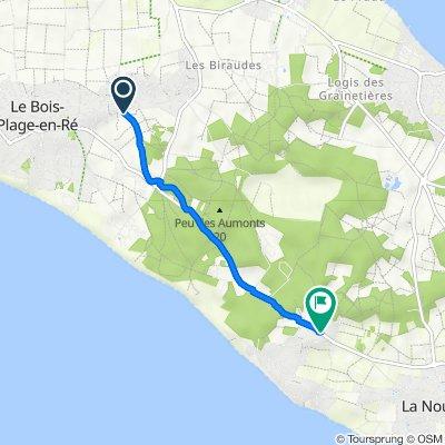 De 2 Venelle de la Chapelle, Le Bois-Plage-en-Ré à 52 Route du Bois Plage, Sainte-Marie-de-Ré