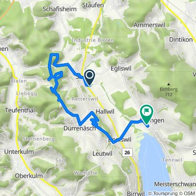 Oberfeldweg 26, Seon nach Unterdorfstrasse 24E, Seengen