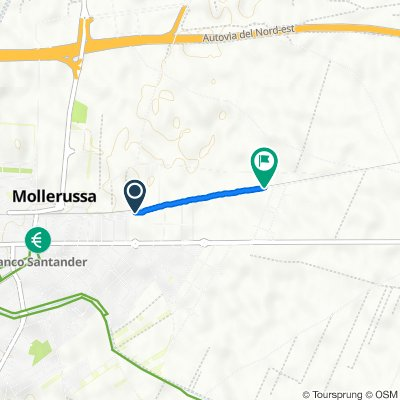 Da Carrer de Santa Anna, 14, Mollerussa a Camí de Golmes a Mollerussa, 13, Golmés