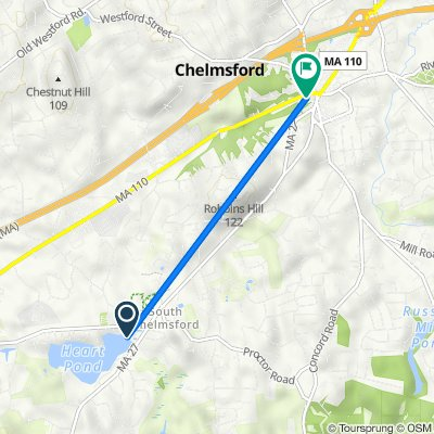 Route to 14 Littleton Rd, Chelmsford