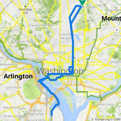 5061 First St NW, Washington to 59 Gallatin St NW, Washington
