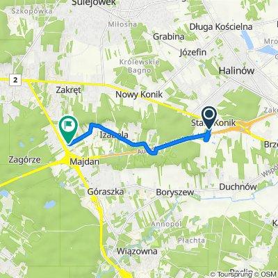 Bosmańska, Halinów do Widoczna 11, Majdan