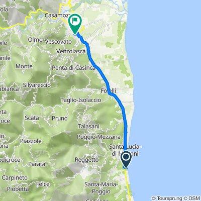 Route nach 31 Les Hespérides, Vescovato