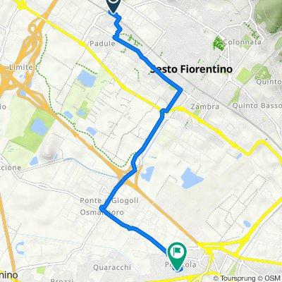 Via Giuseppe Parini 42, Sesto Fiorentino to Via de' Vespucci 181, Peretola