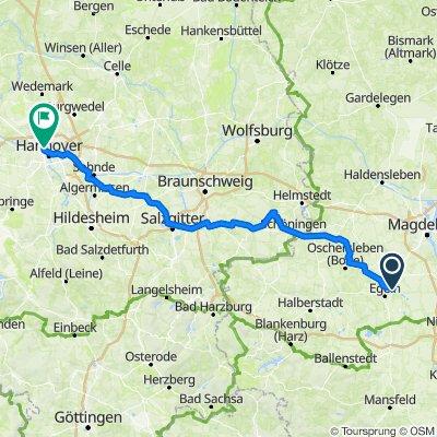 Route von Am Schachtsee 37, Wolmirsleben