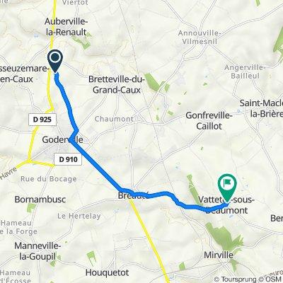 La Grande Chaussée, Bretteville-du-Grand-Caux to 124 Route de Saint-Maclou, Vattetot-sous-Beaumont