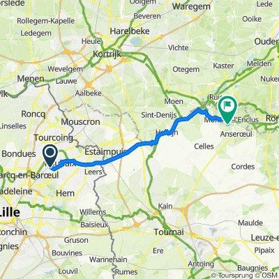 De Rue Chevreul 2, Croix à Route d'Anseroeul 48, Mont-de-l'Enclus