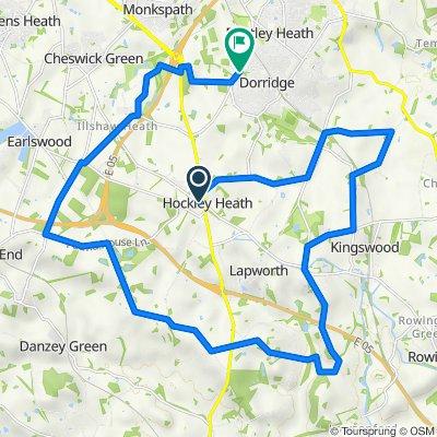 School Road 10, Hockley Heath to Four Ashes Road 222, Dorridge
