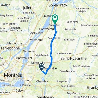 Jour 1 : St-Basile à St-Ours 52,5 km
