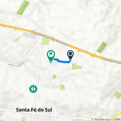 Rota para Rua Oito, 1944–2022, Santa Fé do Sul
