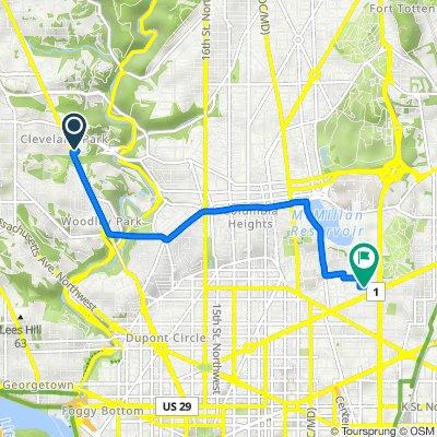 2755 Macomb St NW, Washington to 73 U St NW, Washington