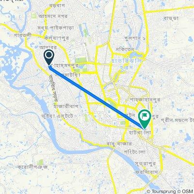 Road No. 4 155, Dhaka to Sadek Hossain Khoka Road 24, Dhaka