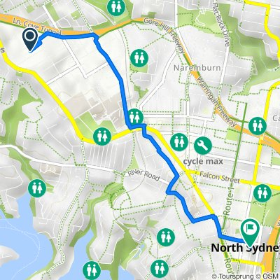 Sawyer Lane 57, Artarmon to McLaren Street 41, North Sydney