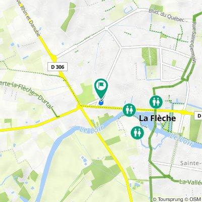 De Rue Saint-Jacques 73, La Flèche à Rue Saint-Jacques 71, La Flèche