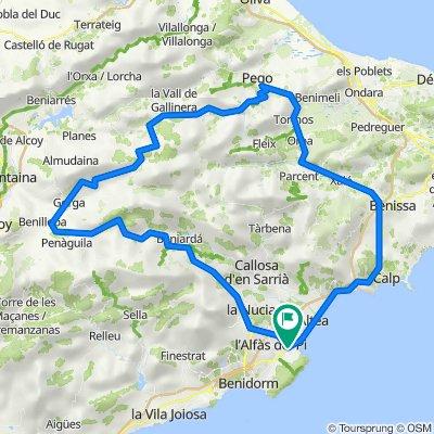 Grande Boucle:Vall Ebó-Zona de la Muerte-Tollos-Confrides