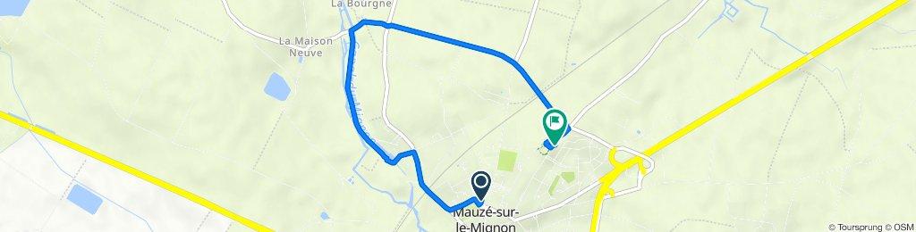 De 14 Place de la Mairie, Mauzé-sur-le-Mignon à 38 Route de Prin, Mauzé-sur-le-Mignon