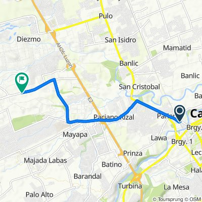 Parian Road, Calamba to C. A. Yulo Avenue, Calamba