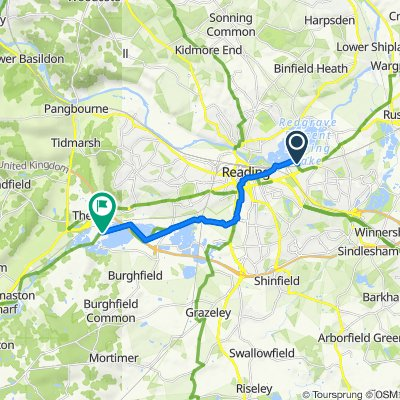 Route from 400 Regus House, Thames Valley Park Dr, Reading