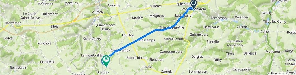 De Place de la République 1, Poix-de-Picardie à Gare de Abancourt