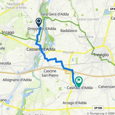 Da Via Cimbardi 29, Cassano d'Adda a Via Rinaldo Paladini 7, Casirate d'Adda